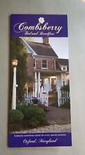 Combsberry Bed Breakfast Oxford Maryland Evergreen Historic Waterfront Brochure