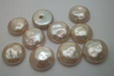 24 Vintage Miriam Haskell creamy white glass baroque pearl cabochon stones 20mm