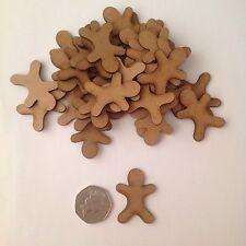 Wood embellishments 30 X Gingerbread Man