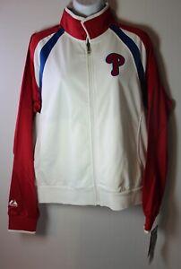 Philadelphia Phillies Women's XL THERMA BASE Full Zip Majestic Track Jacket