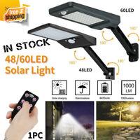 48/60 LED Solar Dimmable Wall Street Light PIR Motion Sensor Outdoor Garden Lamp