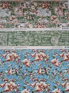 "Graphic 45 Christmas 12"" x 12"" Scrapbook Papers x 6"