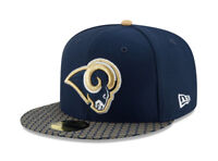 New Era 59Fifty Hat Los Angeles Rams NFL 2017 On Field Sideline Fitted Cap