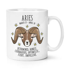 Aries Horoscope 10oz Mug Cup - Horoscope Star Sign Astrology Zodiac Birthday