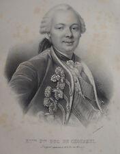 ETIENE FRANÇOIS DUC DE CHOISEUL , PORTRAIT, LITHOGRAPHIE 1840 DELPECH