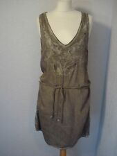 Garcia Jeans Grey Embroidered Tunic Dress S (10-12)