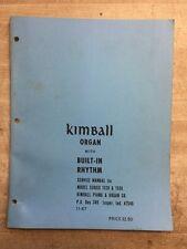 Kimball Organ Model 1520, 1530 Repair manual