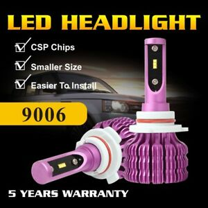 9006 HB4 CSP LED Headlight Bulbs Low Beam Conversion Kit Light Lamp 30000LM 160W