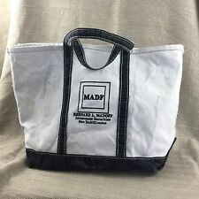 Bernie Madoff Personally Owned Canvas Tote Bag Large MADF Investment Securities