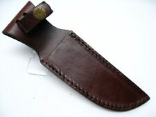 """BROWN Leather SHEATH For Straight Fixed Blade Knife Up To 5"""" Blade SH1161 New!"""