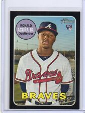 2018 Heritage Ronald Acuna Black border only 50 made Atlanta Braves rookie #580