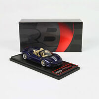BBR 1:43 Scale Ferrari 488 Pista Spider Blu Swaters Car Model Limited Collection