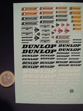 "DECALS 1/24  LOGOS  "" DUNLOP "" - VIRAGES  T53"