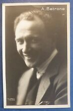 CINEMA- FOTO CARD ANNIBALE BETRONE - TORINO 1883 - ROMA 1950