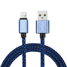 25cm 2A Fast Charger USB Data Cable For iPhone 5 6 6S 7 8 Plus Lightning Blue