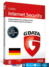 G Data Internet Security 2018 Vollversion 1 PC + Handbuch (PDF) Download NEU