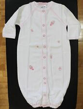 NWT Baby Steps Layette Baby Girl Size 0-6 Months Embroidered Rattle Converter