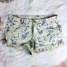 Mossimo Supply Co. Womens size 7 Shorts Spring Summer Floral Print Cream Blue