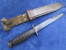 WW2 ORIGINAL M3 KNIFE AND SHEATH MADE BY UTICA BLADE MARKED