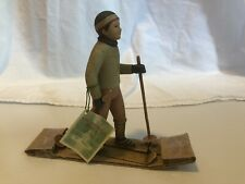 October Hill figurine  Skier Berger Boston International Inc. Cross Country