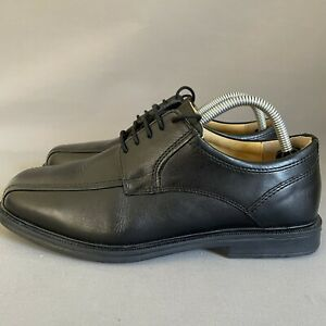 M&S Mens Collection Black Leather Air Flex Lace Up Extra Wide Shoes Size UK 7