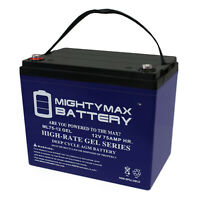 Mighty Max 12V 75AH GEL Battery Replacement for Power-Sonic PS-12750E