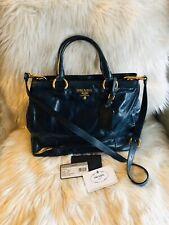 Authentic Prada Вителло блеск 2-Way сумка