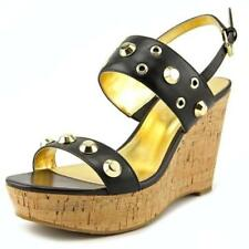 Buckle Wedge Solid Heels for Women
