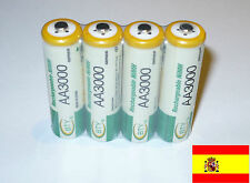 4 x AA 3000 mAh Baterías Recargables 1.2v Bateria Pilas NH AA NiMh battery 174