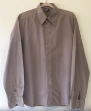 Mens D&G Dolce And Gabbana Long Sleeve Shirt. Beige/Tan. Size 36in