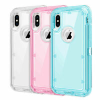 Defender Case For iPhone 11 6 7 8+ XS Max XR Rugged Shockproof Cover Clear Hard
