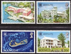 Bermuda 1980 QEII Commonwealth Finance Minister Meeting set of 4 mint stamps LMM