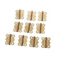 10pz Mini Cerniera Farfalla Per Scatola Portagioie Casa Bambole Cardine Oro