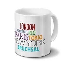 "Städtetasse Bruchsal - Design ""Famous Cities in the World"""