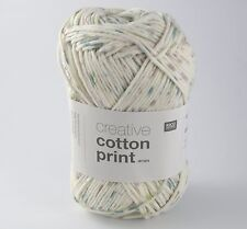 Rico Creative Cotton Aran Imprimé Tricot & Crochet Yarn-Vert Lilas Spray 018