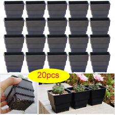 20pc / Mini Square Flower Pots Potted Succulent Nursery Plastic Container Pot