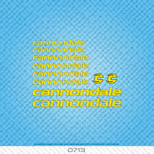 Cannondale Bicycle Decals - Transfers - Stickers - Yellow - Set 0713