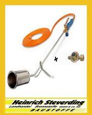 CFH Abflammgerät Gasbrenner Unkraut GV900+Druckminderer 52084