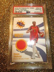Diana TAURASI 2005 Phoenix Mercury WNBA All Star Game Used Jersey Card PSA 10