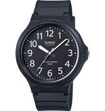 Casio Men's Black Resin Watch, Analog, 50 Meter Water Resistant, MW240-1BV