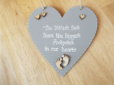 Baby bereavement plaque, Angel Baby sign, Baby Memorial loss Grey heart sign