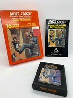 Maze Craze Atari 2600 Game Complete w/ Box & Manual Free Shipping GREAT COND!