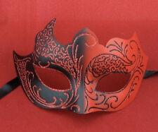 rouge et Noir Vénitien DEVIL Masque bal masqué Halloween Femme Bal Masqué Fête