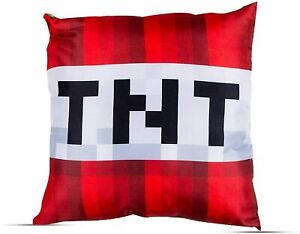 Minecraft TNT Gamer Cushion Pillow 40 x 40 cm Reversible Zipped Cover