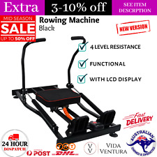 Rowing Machine 4 Level Hydraulic Resistance w/ LCD Home Gym Workout Equipment