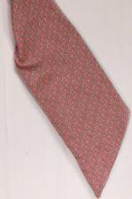Vineyard Vines Silk Scarf Sash Hair Tie Wrap Pink Green Fish