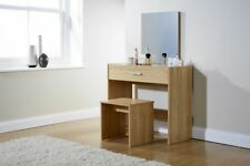 New Julia Oak Bedroom Dressing Table and Matching Stool Set