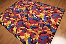 5' x 7' Contemporary Fun Guitar Area Rug  AOR7435 - 5x7 Blue