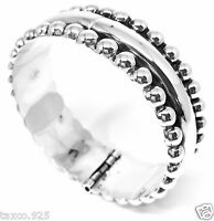 VINTAGE DESIGN TAXCO MEXICAN STERLING SILVER BEADED BEAD CLAMPER BRACELET MEXICO