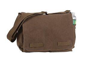 Rothco 9694 Vintage Canvas Classic Messenger Bag - Brown 9694